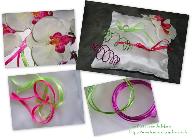 coussin alliance orchidée
